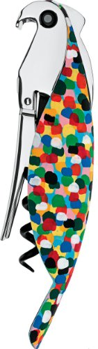 A di Alessi Parrot Sommelier-Style Corkscrew, Multi-Color by Alessi