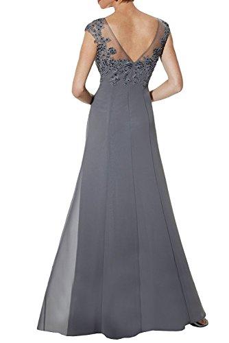 Brautmutterkleider Elegant Charmant Spitze Damen Formal Festlichkleider Kurzarm Neu Lila Abendkleider Ballkleider 5R8xR