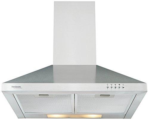 Hindware 60cm 820 m3/hr Chimney (C100082, 2 Cassette Filters, Steel/Grey)