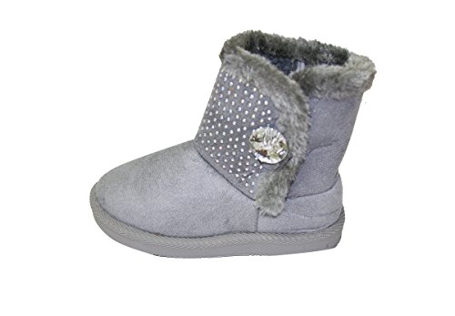9d92df1d5bcb Winter Snow Boots for Girls Sparkle Shearling Snow Shoes for Toddler  (Warm-38) Grey 5