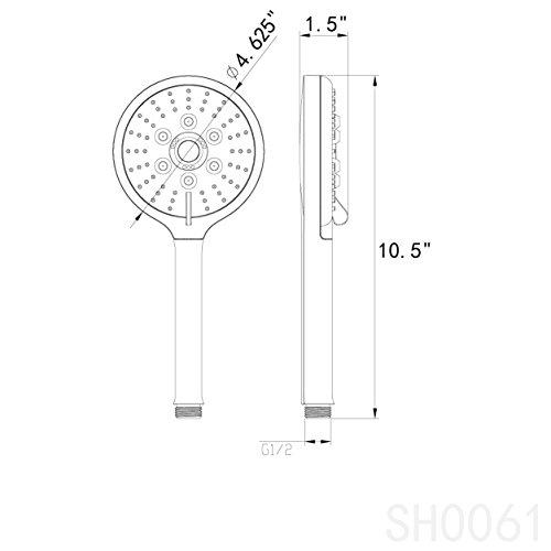 AKDY Bathroom Luxury 3 Setting Multi-Function Chrome Finish Massage Jet Mist Style Handheld Shower Head