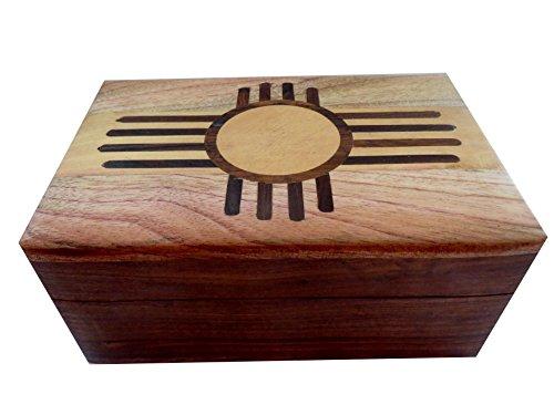 Wooden-Inlaid-BoxWood-Jewelry-BoxTrinketKeepsakeStorage-Box-4x-6-B46NAV-Zuni-Sun-Box