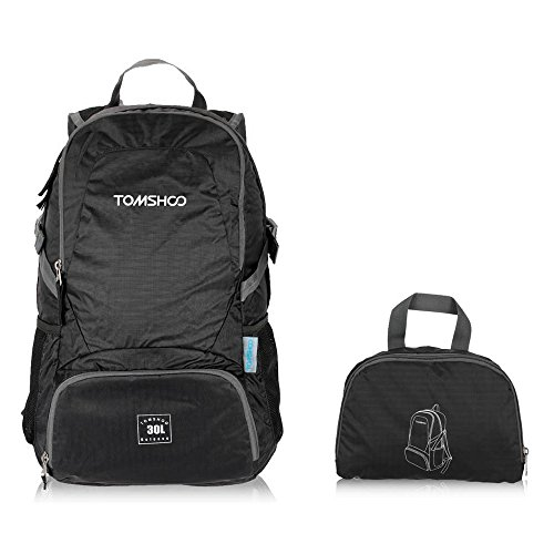 TOMSHOO 30L Foldable Backpack Ultra Lightweight Packable Backpack for Outdoor Travel Trekking Daypack
