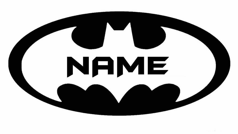 Amazon Batman Logo With YOUR Name Custom 14 BLACK VINYL Decal Art Wall Sticker Car USA Home Kitchen