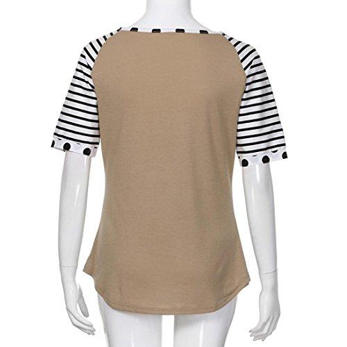 Elegante Ropa Caqui de Mujer Casuales Verano Camiseta Gran Blusa Manga Barata de Casual Blusas Noche de Camisa Aimee7 Tama de Camiseta Blusas Blusa Corta o w5XvnSqqa