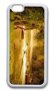 MOKSHOP Adorable forest river hd Soft Case Protective Shell Cell Phone Cover For Apple Iphone 6 Plus (5.5 Inch) - TPU White