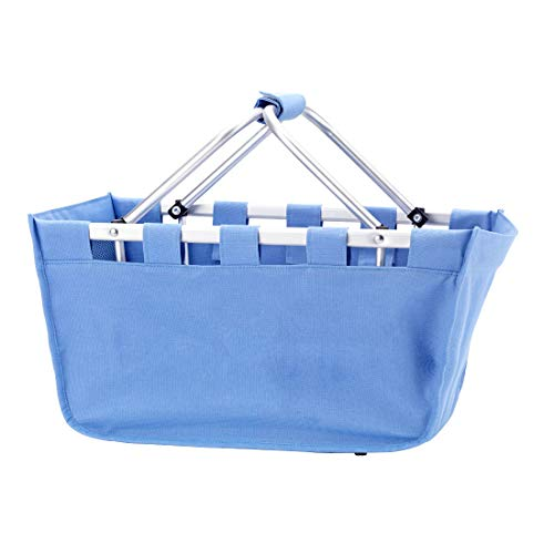 Wholesale Boutique Blue Hydrangea Market Tote, with Durable Removable Aluminum Frame, One Size ()