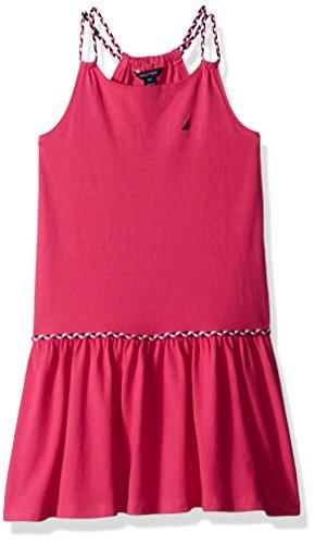 Nautica Little Girls' Spaghetti Strap Fashion Dress, Medium Pink Braids, 6