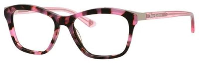 d602ecfd326 Amazon.com  Juicy Couture Metal Rectangular Eyeglasses 50 0CV4 Pink ...