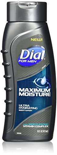 Dial for Men Maximum Moisture Ultra Hydrating Body Wash, 16 Fl. Oz, Pack of 2