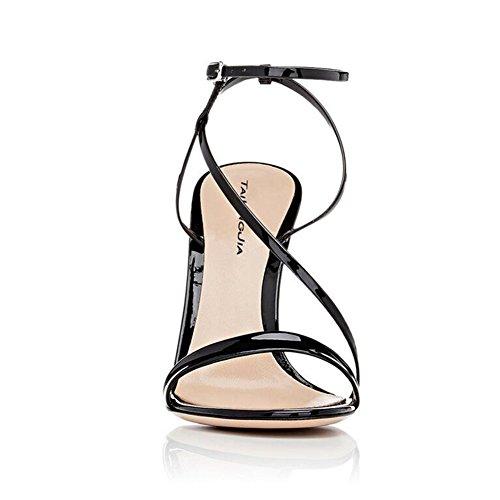 donna Balck sandali col Ladies Uniti Scarpe tacco Gold Europa Scarpe sexy alto combinazione di Strap Stati SHINIK sottile Black e da FxwEp61