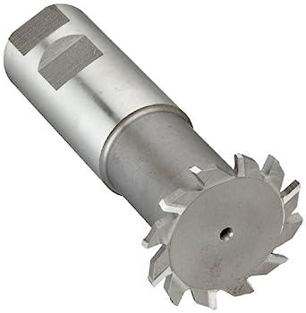 "Niagara Cutter N11050 T-Slot Shank Type Cutter, High Speed Steel, Uncoated (Bright), Weldon Shank, 10 Helix Angle, 2"" Cutter Diameter, 12 Tooth, 5/32"" Width"