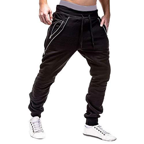 De Algodón Hombres Deportivos Pantalones Carga Negro Casuales Chándal Bolawoo Holgados Cordón Lápiz Harem Mode Los Con Fitness Marca 5IqaUWqw