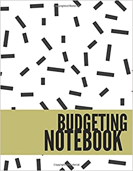 budgeting notebook simple white design personal money management