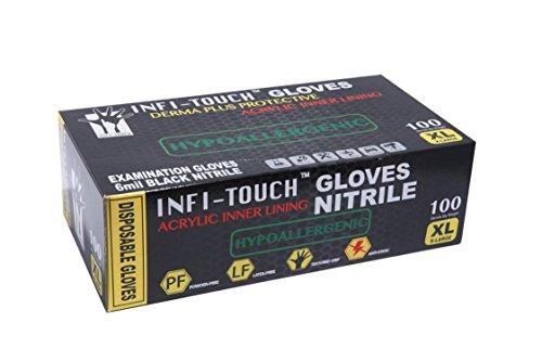 Nitrile Gloves - Infi-Touch Heavy Duty Black Nitrile Gloves