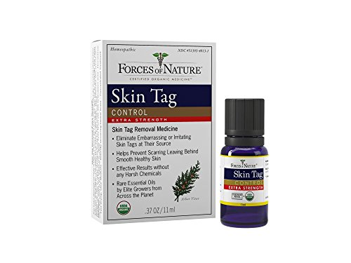 Forces of Nature | Skin Tag Control Extra Strength | Certified Organic | FDA-registered | Pharmaceutical Strength | 11ml (Pack of 1)