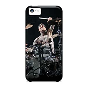 Iphone 5c IoQ2574EGYs Unique Design Lifelike Blink 182 Band Skin Shockproof Cell-phone Hard Covers -JohnPrimeauMaurice