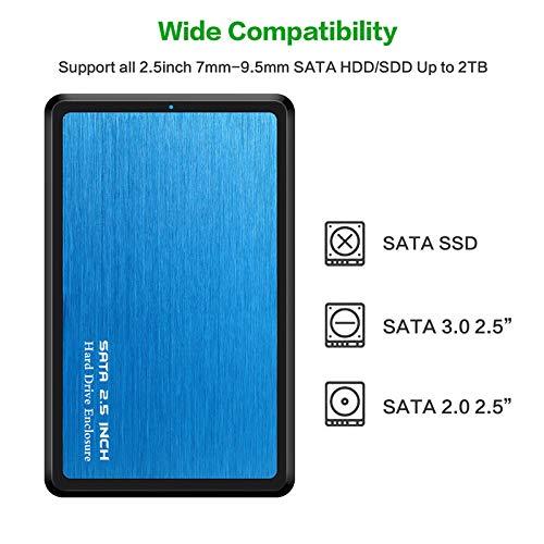 BEESCLOVER - Carcasa para Disco Duro SSD de 2,5