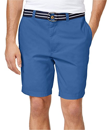 Club Room Mens Twill Flat Front Casual Shorts Blue 44