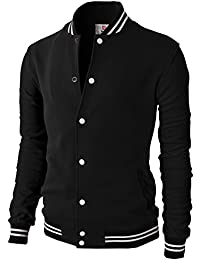 Mens Casual Slim Fit Varsity Baseball Jackets Bomber Cotton Lightweight  Coats 8df982292164