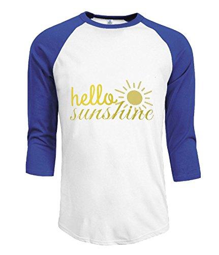 Fatal Decision Men's comfort 3/4 T shirts Hello Sunshine blue
