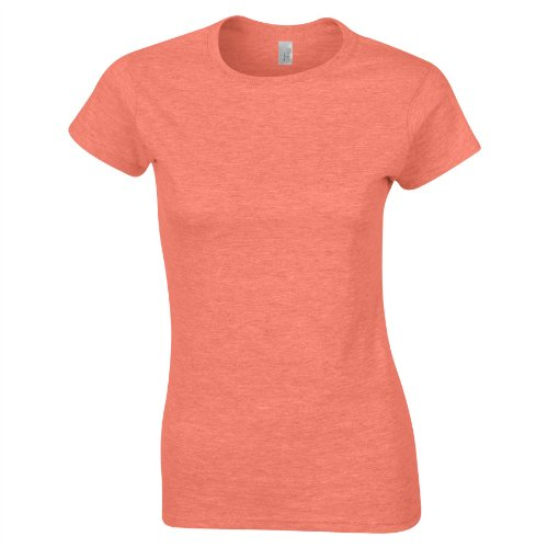 Gildan SoftStyle Ladies Fitted Ringspun T-Shirt SIZE XXL COLOUR Heather Orange