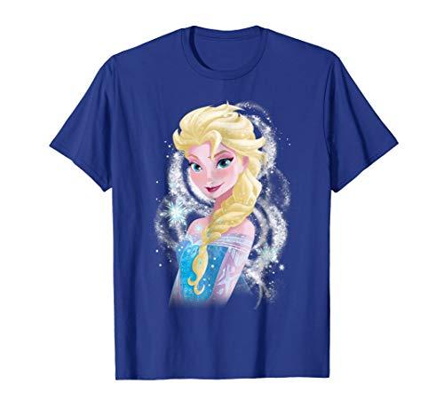 Disney Frozen Elsa Snowflake Swirls Graphic T-Shirt -