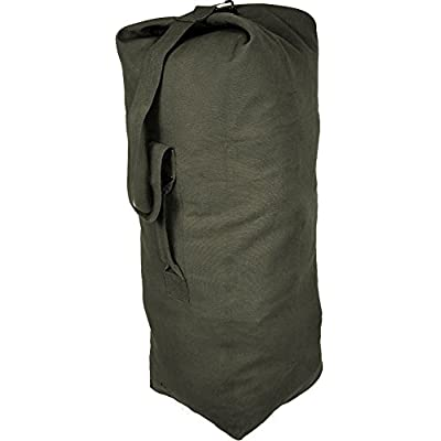 chic Army Universe Olive Drab Jumbo Top Load Canvas Duffle Bag (25