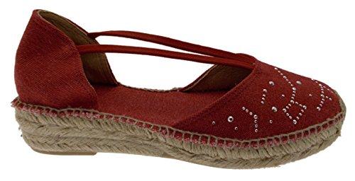 Toni Pons ERLA -TR red Sandal Espadrilles Shoe 37 8B0pTJSduW