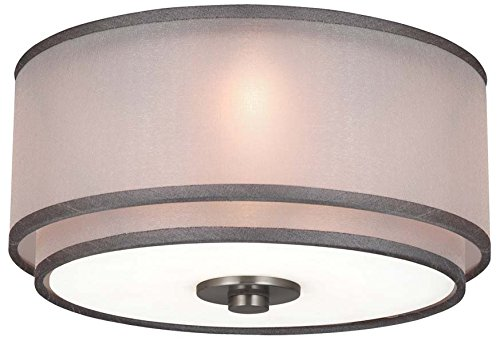 Monte Carlo MC236BS Ceiling Fan 3-Light Halogen Light Kit, Brushed Steel