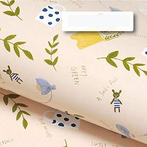 (10 Sheets Roll Floral Patterned Gift Packaging Flower Wrapping Packing Paper Background Craft DIY Scrapbook Accessories 52 * 75cm)