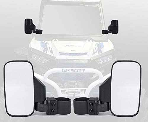 TOPMOUNT 1Pair Side View Mirror Set for UTV Polaris Ranger RZR, Can Am Commander, Maverick X3, Gator, Teryx, Rhino YXZ