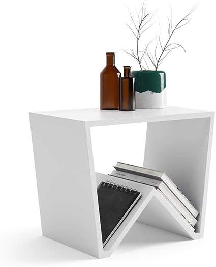 Mobili Fiver, Table Basse Emma, Blanc Mat, 50 x 33 x 40 cm