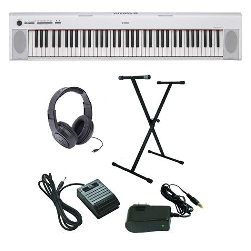 Yamaha Piaggero NP-32 Ultra-Premium Keyboard Package with Headphones, Stand, Sustain Pedal and Power Supply ()
