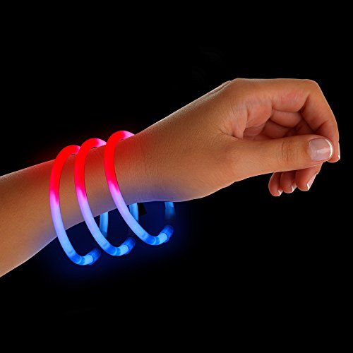 (50 Pack) Fourth of July Glow Sticks Party Favors Braclets]()