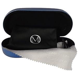 Hard Clamshell Eyeglass & Sunglasses Case - 3 Piece Set For Men & Women - O'Meye Case, Pouch, Premium-Lens Microfiber Cleaning Cloth, 100% Satisfaction Guarantee!