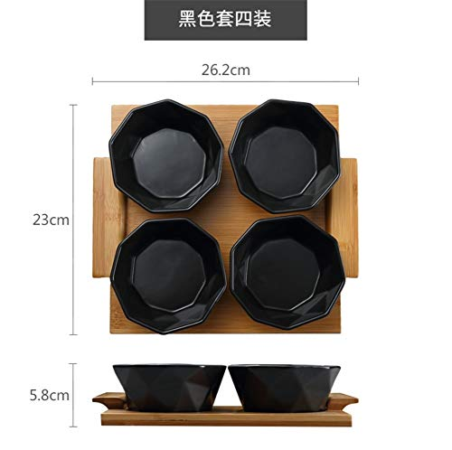 (Nut Bowls,Ice Cream Salad Waffle Dessert Cake Spices Snack Bowl Serving Platter Ceramic Dishes Bamboo Tray)