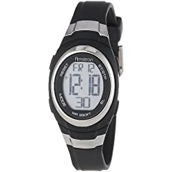 Armitron Sport Unisex 45/7034BLK Stainless Steel Accented Black Resin Strap Chronograph Digital Watch