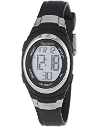 Unisex 45/7034BLK Stainless Steel Accented Black Resin Strap Chronograph Digital Watch