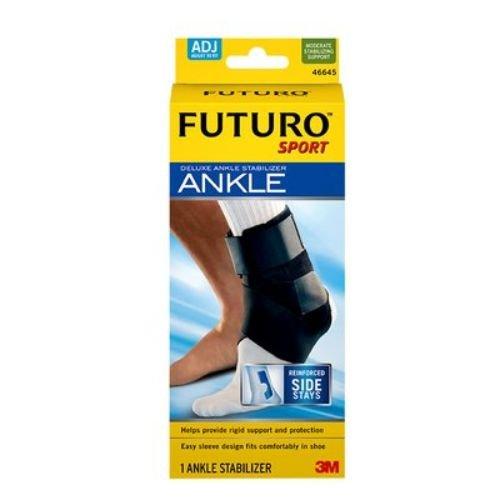 3M Health Care 46645EN FUTURO Sport Deluxe Ankle Stabilizer, Adjustable, Black (Pack of 12)
