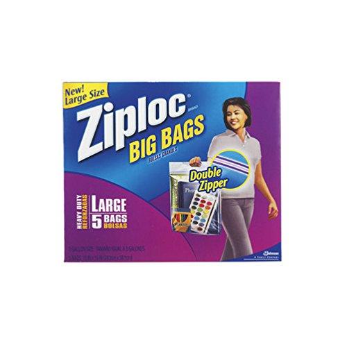 Ziploc Big Bags 3 Gal. Heavy Duty Clear Plastic 15' X 15',Large