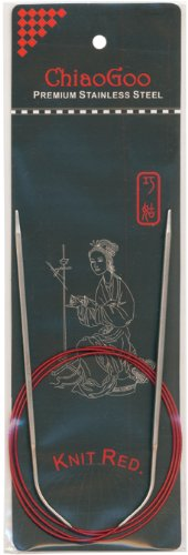 ChiaoGoo 40-Inch Red Line Circular Knitting Needles, 2/2.75mm by ChiaoGoo B003W0ZKXC