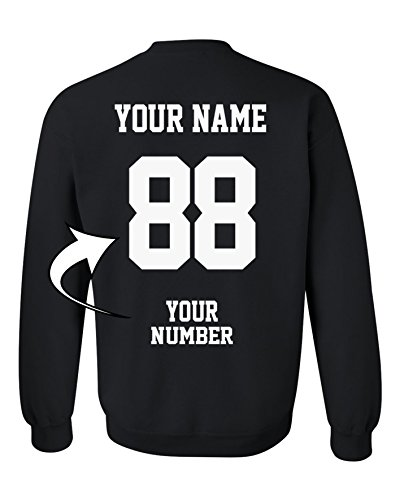 Tee Miracle Design Your Own Sweater - Add Your Name Number - Custom Jersey Team Sweatshirts by Tee Miracle