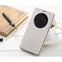 Luxury Flip PU Leather Cover Case Quick Circle Smart Wake Up Case For LG G4 (Assorted Color) ( Color : White )