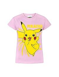 Pokemon Childrens/Girls Official Pikachu Bolt T-Shirt