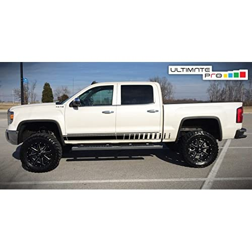 Amooca 110035-120035 2014-2018 Chevy Silverado 1500 and 2015-2018 2500//3500 Custom Fit No Drill Mud Flaps Mud Guards Flare Splash Guards Kits Molded 4 Piece Set NOT for GMC Sierra