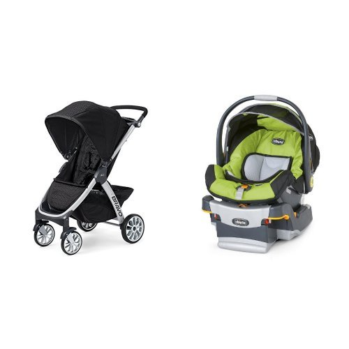 Chicco Bravo Stroller & Chicco Keyfit Infant Car Seat in ...