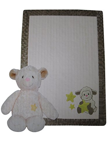 Patchwork Pal Reversible Applique Blanket and Plush - Lamb