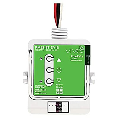Image of Home Improvements Lutron RMJS-8T-DV-B Vive PowPak Dimming Module has Voltage Rating of 120/277 Volt AC at 50/60 Hz Electrical Distribution Product