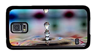 Hipster Samsung Galaxy S5 Case grove colored water drops PC Black for Samsung S5